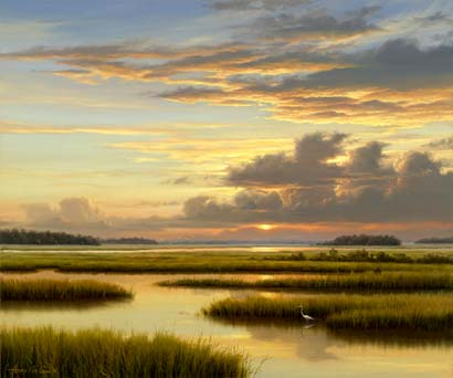 oil painting florida marsh